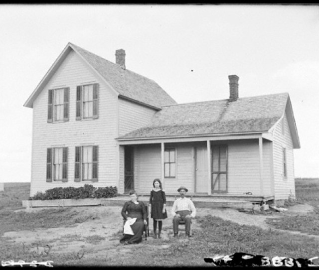 C Bd Story Side Gabled House In Nebraska C  Public Domain