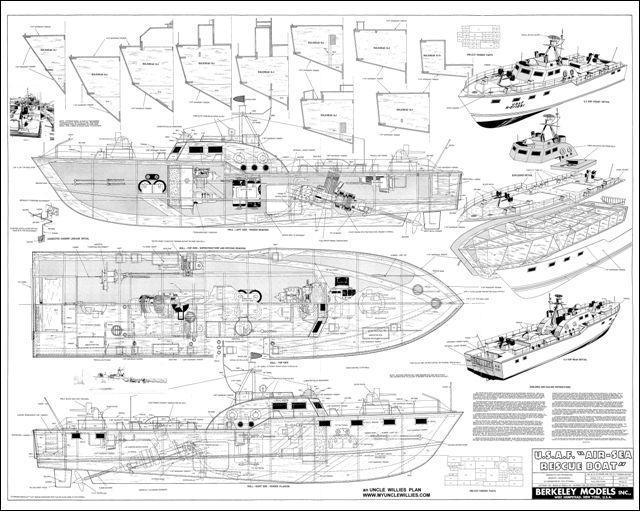 Free DIY Boat Plans — U.S.A.F AIR-SEA Rescue Boat Plans