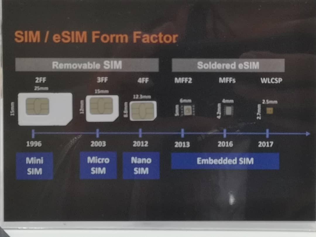 eSIMで競合はおらんなあ、と語るジェムアルトはん。しかしeSIMは小さいね。 (臺北世界貿易中心)