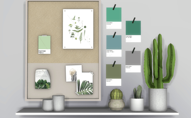 Wall Decor Pantone By Raventons The Sims 4 Download