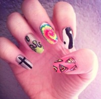 cross nail design | Tumblr