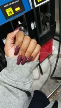 winter acrylic nails | Tumblr
