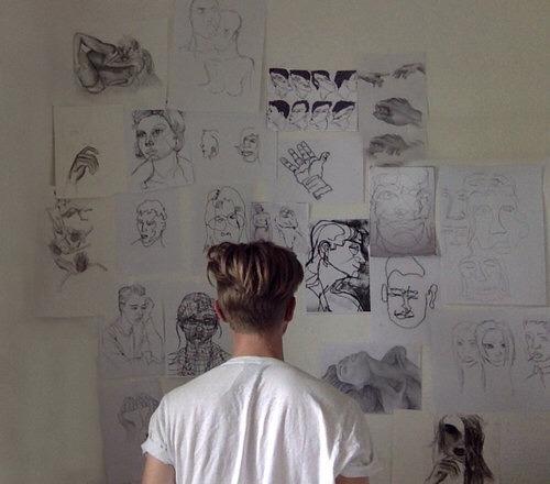 hand drawn wall art tumblr