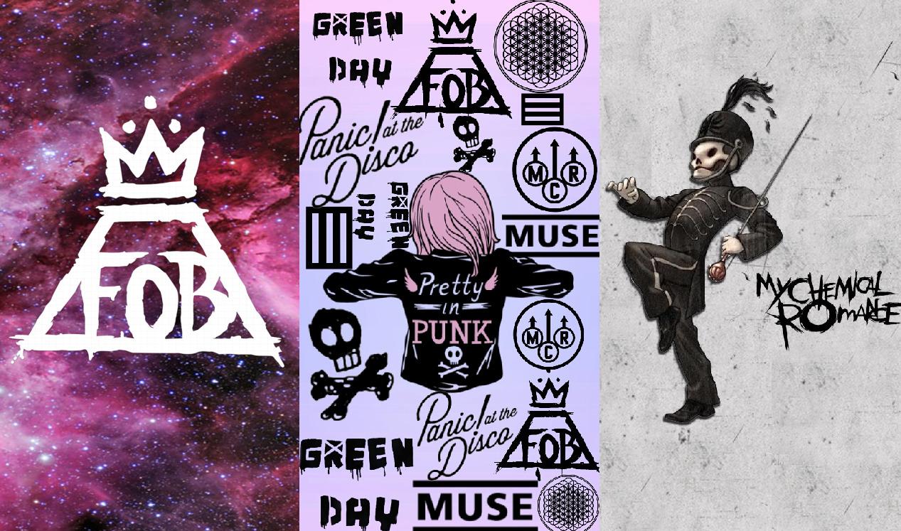 Band Logos Collage Tumblr Wallpaper