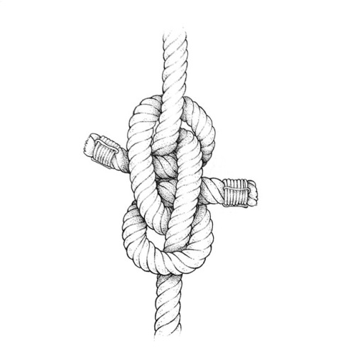 Knot drawings, part of a series of hand-drawn nautical
