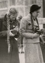 camera girls. late 1930s- early