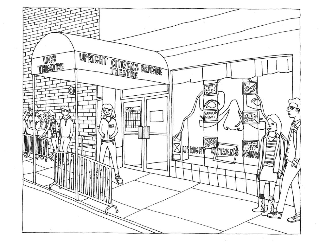 UCB Comedy — Color in the UCB Chelsea theatre in Abbi...