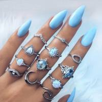 blue nail art design | Tumblr