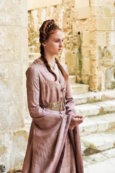Sansa robe portefeuille rose