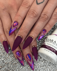 purple stiletto nails | Tumblr