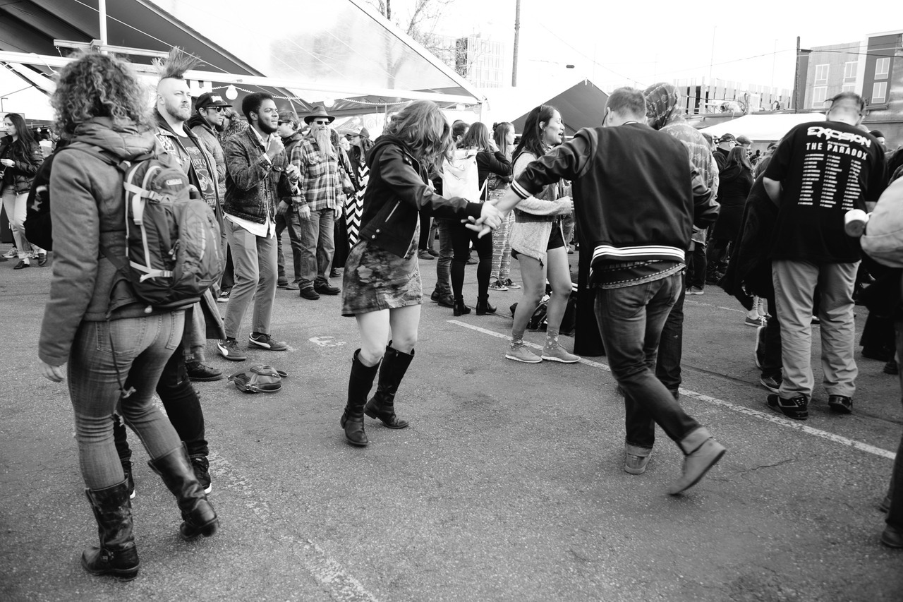 Day 4: Our volunteer camera crew member, , is a fantastic salsa dancer. She was swinging the night away at Antibalas. AS