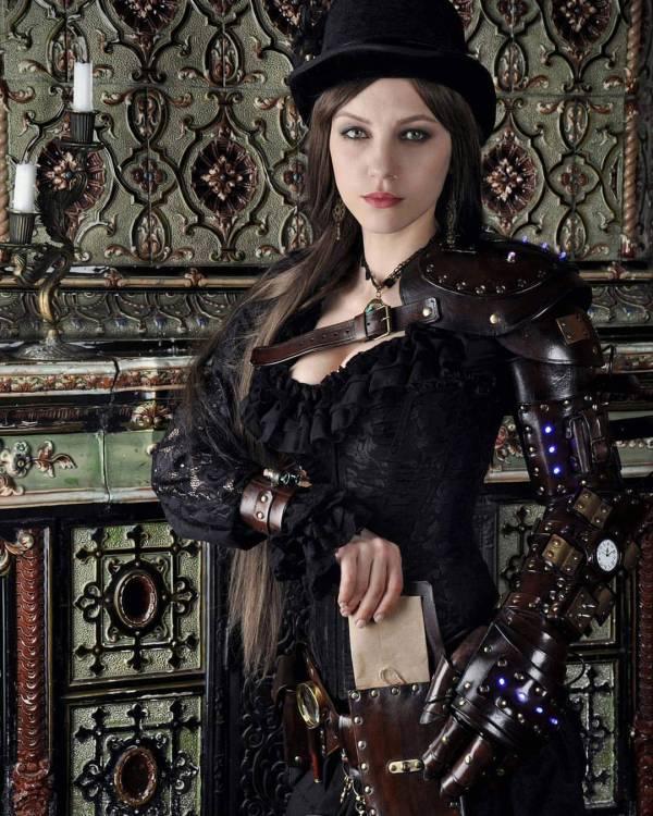 Girl Steampunk Goth Art