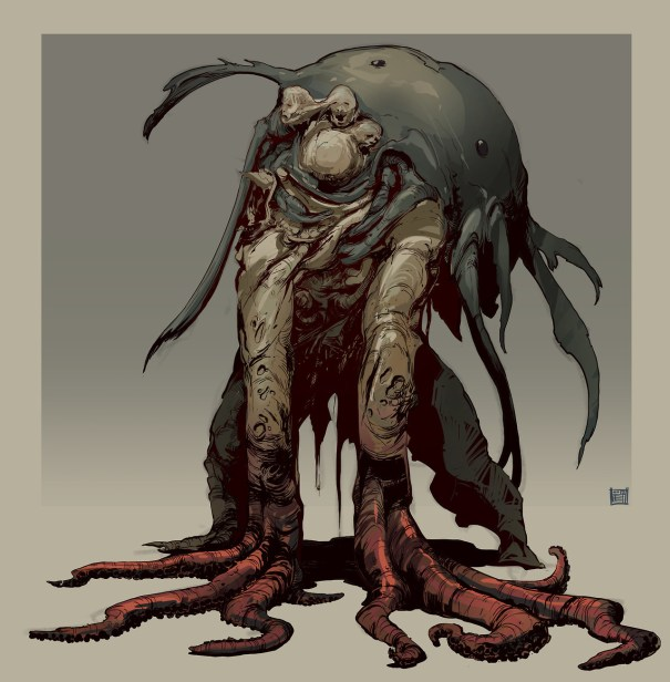 Cursed Sea – creature concept by Hue Teo – Horror
