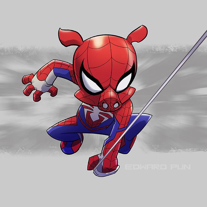 638b991a2196f Spider-Ham by Edward Pun (ig   tw   fb   blog) – Geek