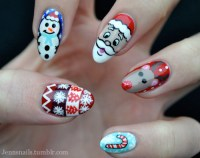 christmas nails on Tumblr