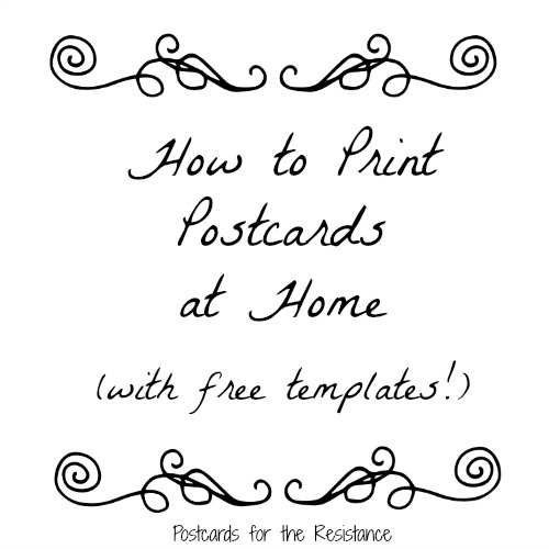 How to Print Postcards at Home (with templates