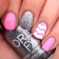 silver glitter acrylic nails | Tumblr