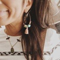 pink hoop earrings | Tumblr