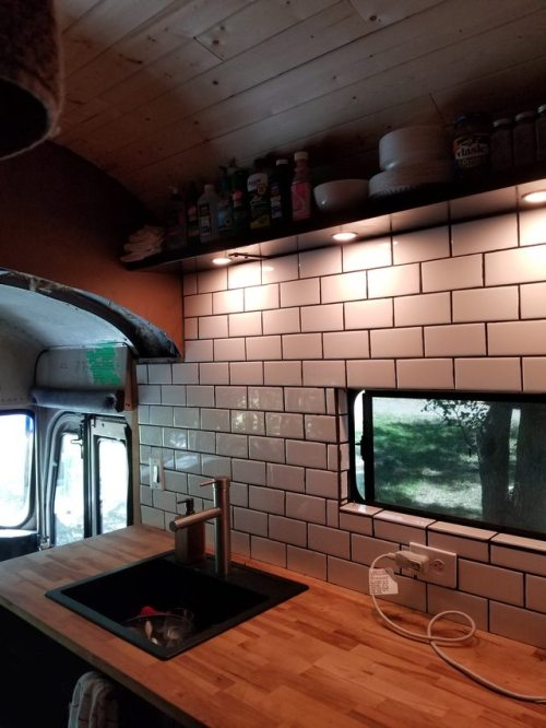 Home Interior Design  smallhomes School bus house The
