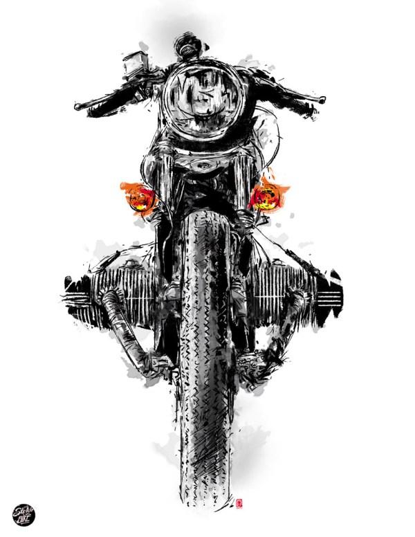 Motorcycle Pencil Drawings