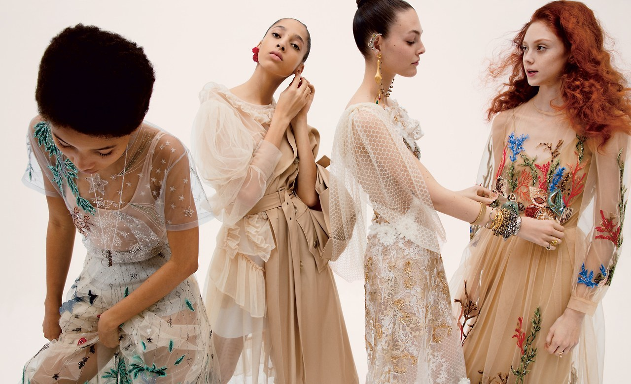 freaki:  Lineisy, Yasmin, Vittoria and Natalie for Vogue, March 2017