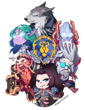 for the (chibi) alliance!! check out the horde version and other warcraft chibis in my wow tag!