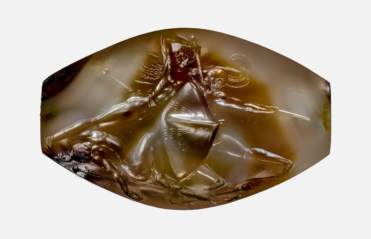 The Pylos Combat Agate carved by ancient Minoa… – History