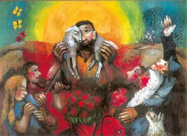 Modern Christian Art Jesus Shepherd
