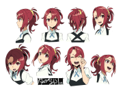 kurokite kiznaiver character head
