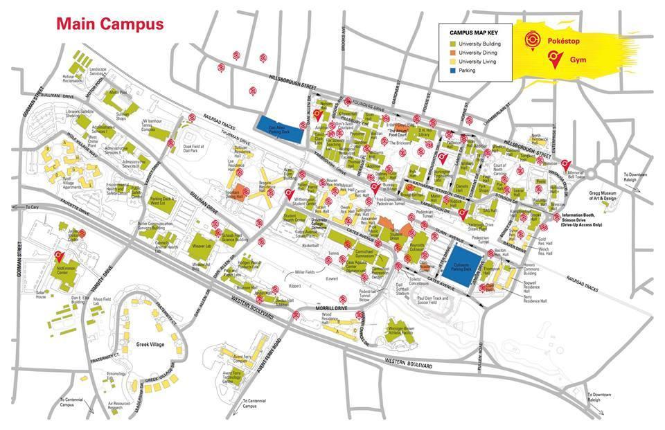 Ncsu Campus Map North Campus