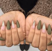 army green nails