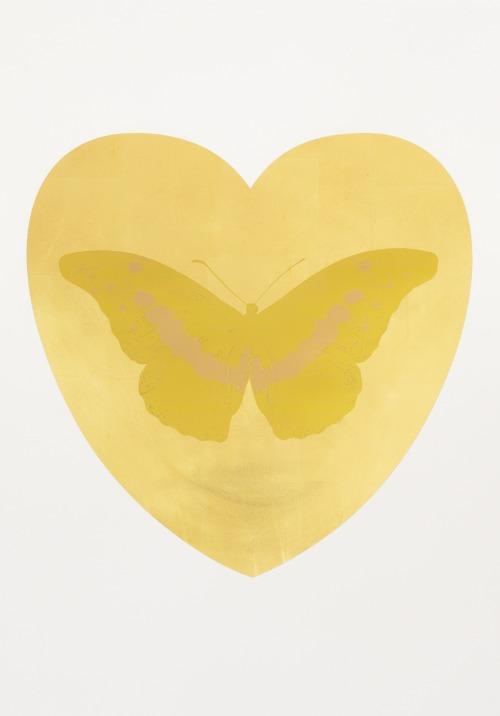 tumblr_p369fxTLsX1qfc4xho1_500 Damien Hirst, I Love You - gold leaf, oriental gold, cool gold,... Contemporary