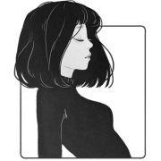 manga girl short hair
