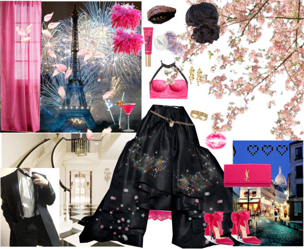 Night out by lucilxlu featuring wall home decor