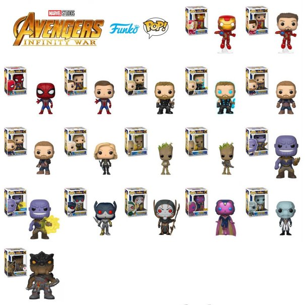 New Avengers Infinity War Funko Pops Reveal Marvel