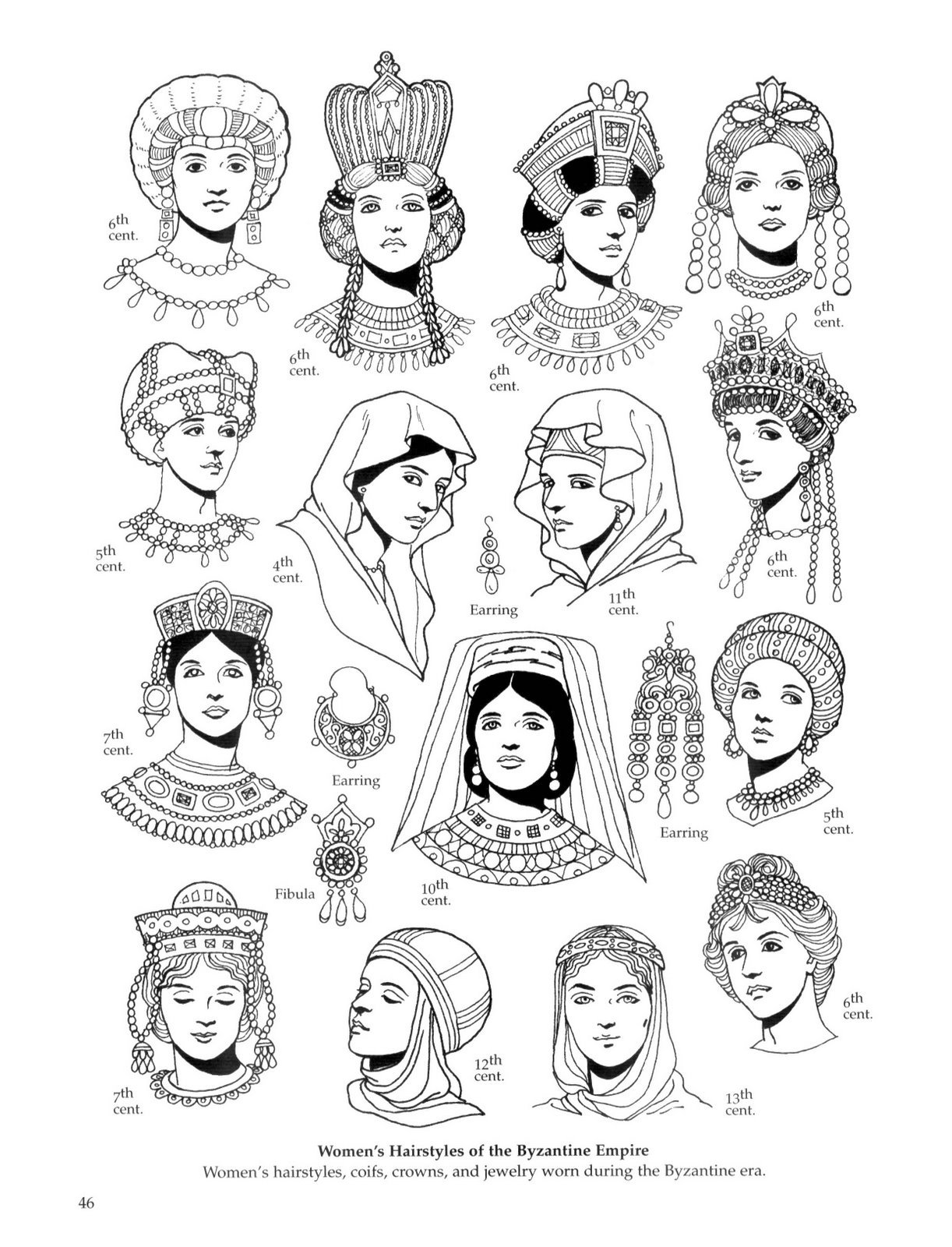 Women's Hairstyles of the Byzantine Empire Via