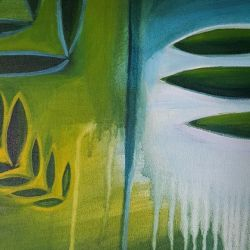 Just a small part of new #Abstract painting I'm doing. #art #painting #colour #blueredgreenyellow #abstractart #patterns
