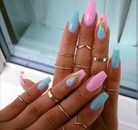 blue nails on Tumblr