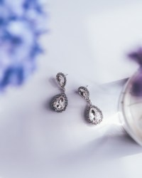silver statement earrings | Tumblr
