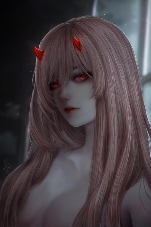 Wallpaper Cute Korean Girl Anime Devil Girl Tumblr