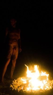 gaypaganlove:  Naked beach bonfires 🔥