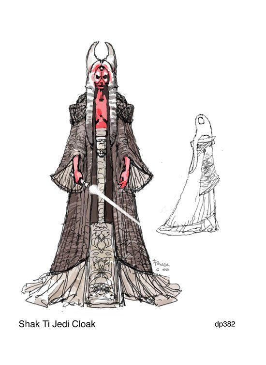 Star Wars Fit for a Queen Shaak Ti  Concept art by
