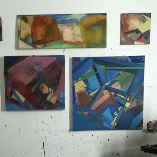 #studio #EggtemperaOil #stateoftheday #oiloncanvas #oilpainting #instaart #painting #contemporaryart #peinture #fineart #berlinart #christophkern #abstractpainting #malerei #contemporarypainting