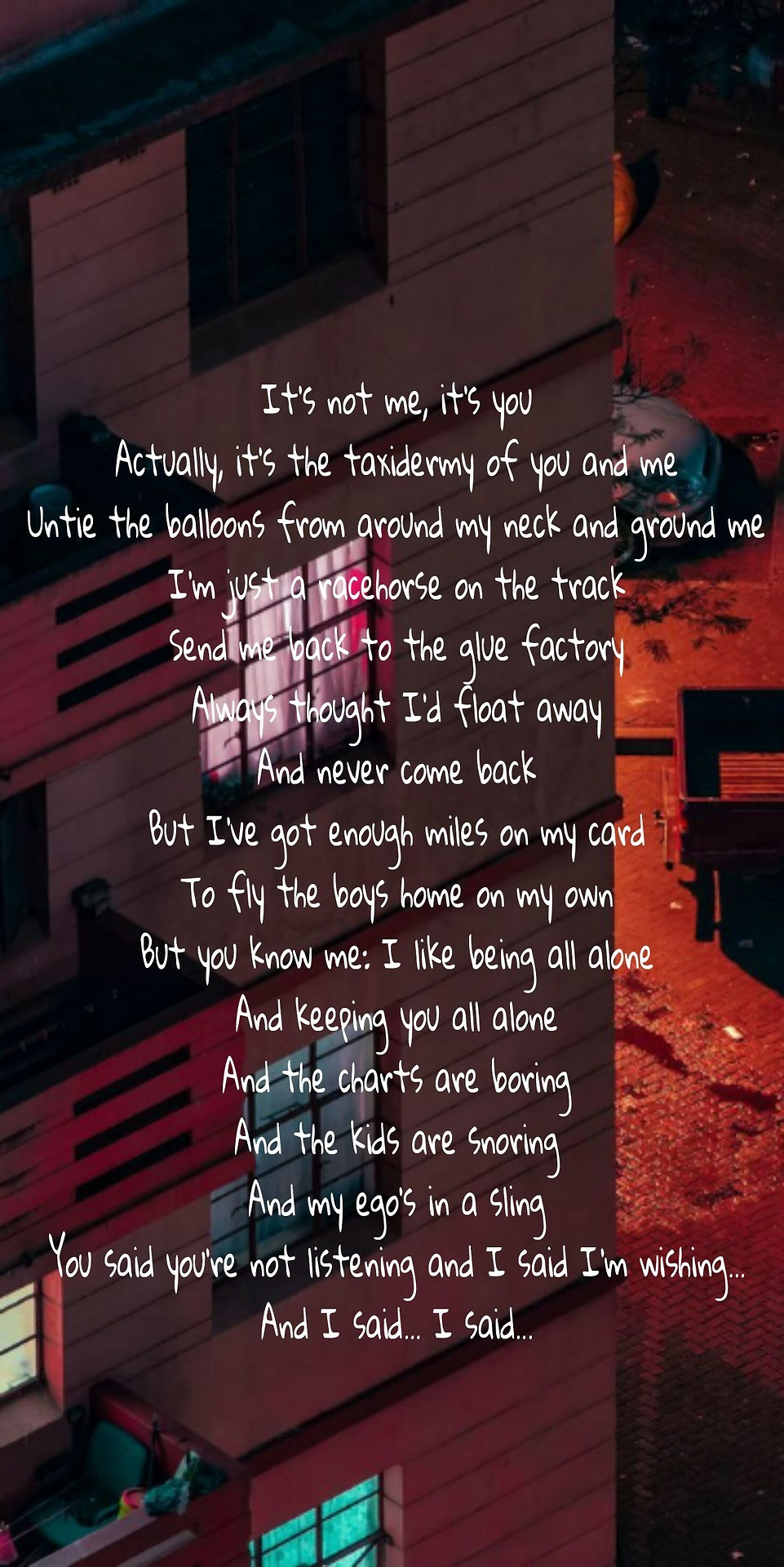 Fall Out Boy Wallpaper Lyrics 20 Dollar Nose Bleed Lockscreens Requested By Band