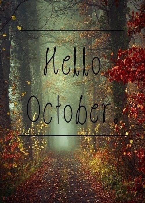 Fall Leaves And Pumpkins Wallpaper Hello October On Tumblr