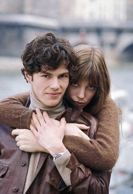 Jane Birkin and Renaud Verley in Paris, 1969.