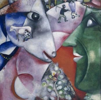 """Marc Chagall - """"Yo y la aldea"""" (1911, óleo sobre lienzo, 192 x 151 cm, MOMA, Nueva York)Este cuadro de Marc Chagall, una de sus obras más famosas, es un homenaje a su tierra, que había tenido que dejar unos meses antes para trasladarse a París. La..."""