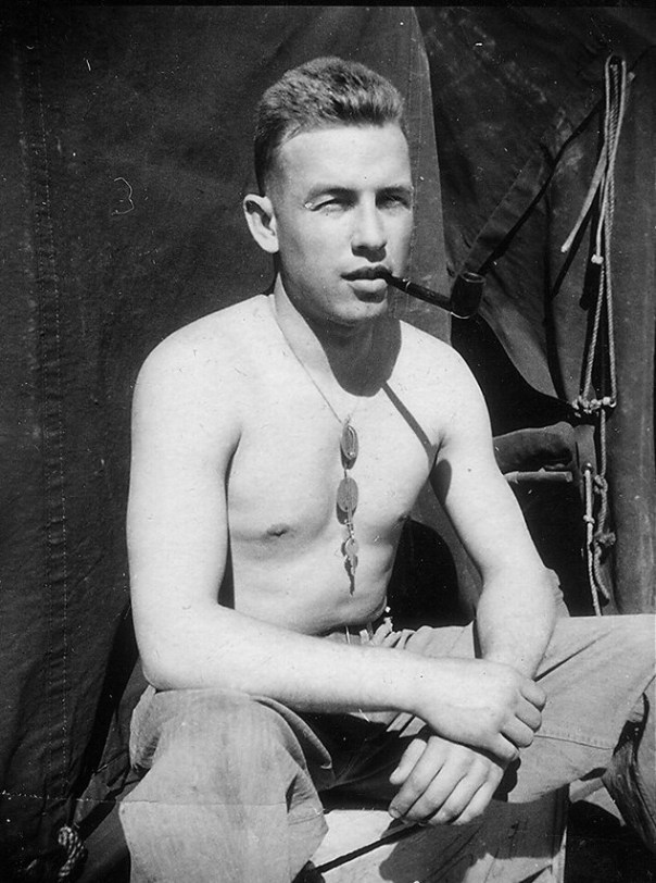 078ef401b Shirtless soldier smoking pipe. (unknown date) – History