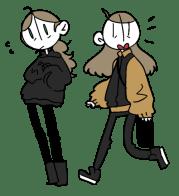 brown hair cartoon