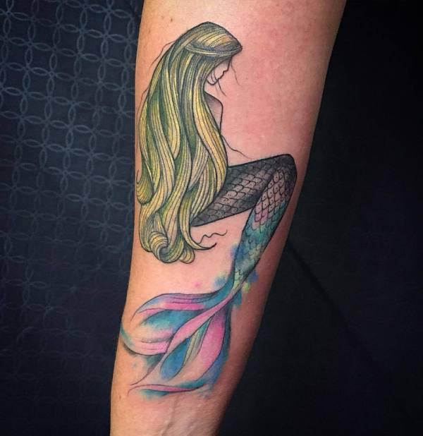 Bxuxdx #mermaid #tattoo #tattoos #alohatattoowahiawa